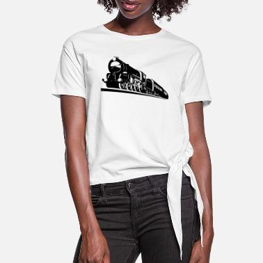 Bnsf train engine - Women's Knotted T-Shirt