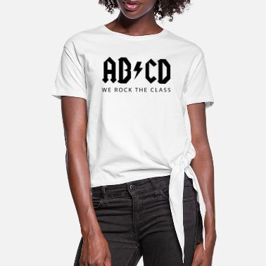 Abcd ABCD First day of school - school enrollment - Women's Knotted T-Shirt
