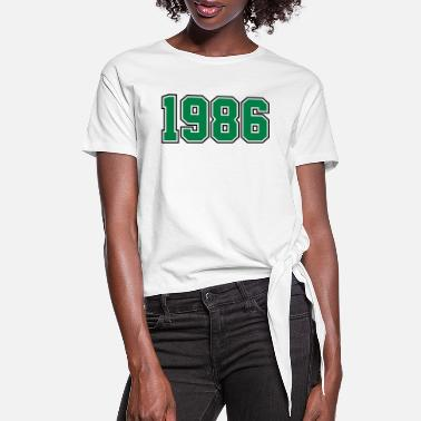 Year Of Birth 1986 | Year of Birth | Birth Year | Birthday - Women's Knotted T-Shirt