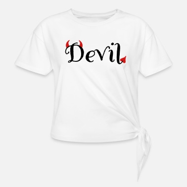Devil Male devil - Women's Knotted T-Shirt