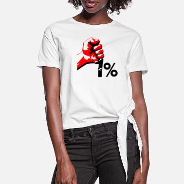 Occupy occupy - Women's Knotted T-Shirt