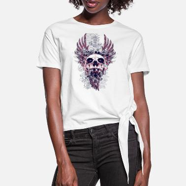 Graphic Art Cool Design - Skull - Metal - Art - Graphic - Women's Knotted T-Shirt