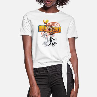 Bugs Bunny Looney Tunes Bugs Taz Tweety Sylvester - Women's Knotted T-Shirt