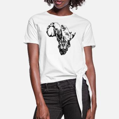 South Africa AFRICA MAP - Women's Knotted T-Shirt