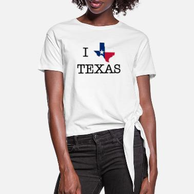 Texas I Texas Texas - Women's Knotted T-Shirt