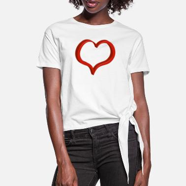 Heart red heart - Women's Knotted T-Shirt