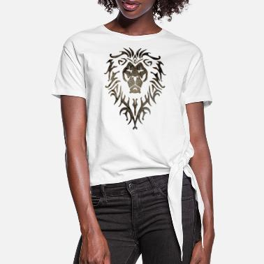 Wow Alliance White Grunge - Women's Knotted T-Shirt