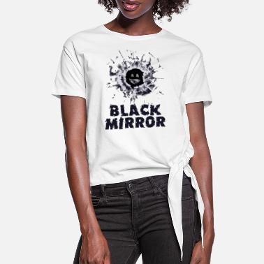 Robot Black Mirror Series - Women's Knotted T-Shirt
