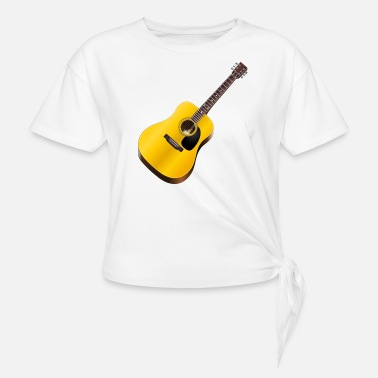 Acoustic Guitar acoustic guitar - Women's Knotted T-Shirt