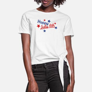 July 4th July 4th - Women's Knotted T-Shirt