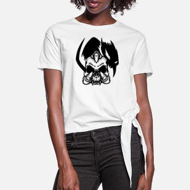 Skull Claw - Skull Claw - Women's Knotted T-Shirt