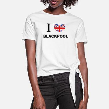 Blackpool I Love Blackpool - Women's Knotted T-Shirt