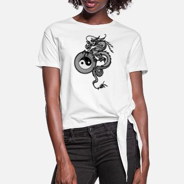 Chinese dragon - Women's Knotted T-Shirt