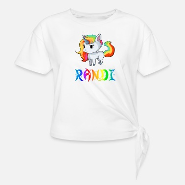 Randi Present Randi Unicorn - Women's Knotted T-Shirt