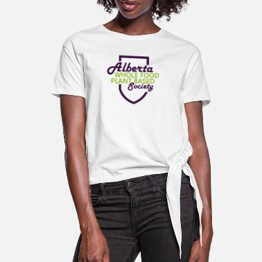 Retro Alberta WFPB Society Swag - Women's Knotted T-Shirt