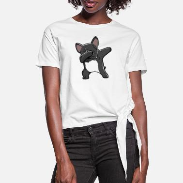 Dabbing French Bulldog On American Flag Womens T Shirts Long Sleeve Cotton Womens Tees