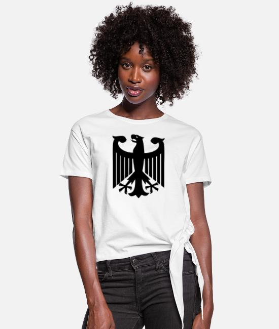 Germany T-Shirts - German Eagle - Women's Knotted T-Shirt white