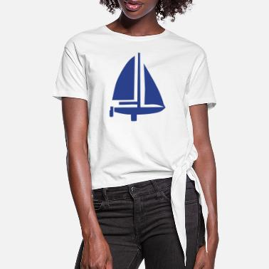 Sail Boat Sailing Boat - Women's Knotted T-Shirt
