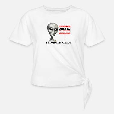 Area 51 - Women's Knotted T-Shirt