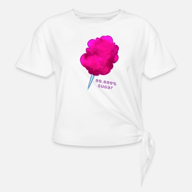 Cotton 99% Sweet - Women's Knotted T-Shirt