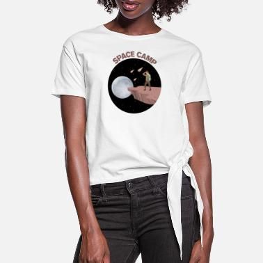 Summer Space Camp - Women's Knotted T-Shirt