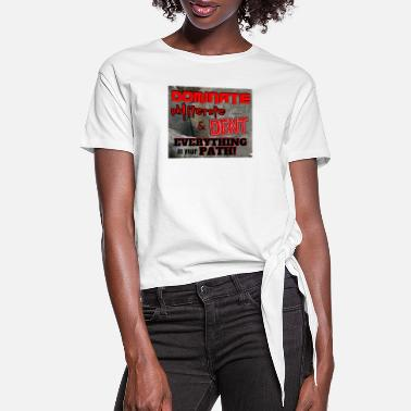 Dents Dominate Obliterate and Dent - Women's Knotted T-Shirt
