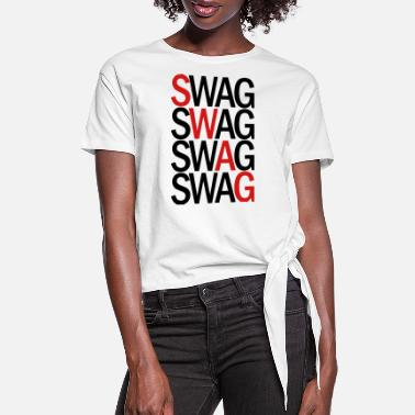 SWAG TWO COLOR VECTOR - Women's Knotted T-Shirt