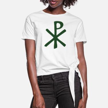 Rho Chi Rho Thick - Women's Knotted T-Shirt