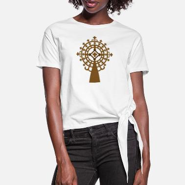 Ethiopia meskel_wood - Women's Knotted T-Shirt