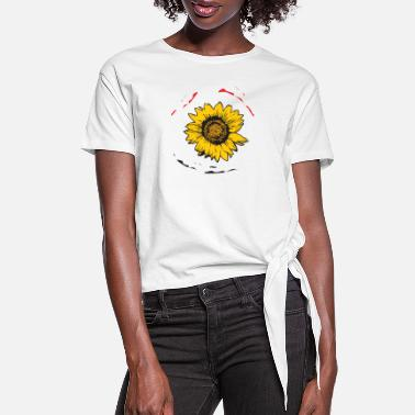 Sun Sun Flower - Women's Knotted T-Shirt