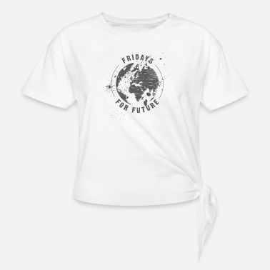 Fridays for Future - grey - Women's Knotted T-Shirt