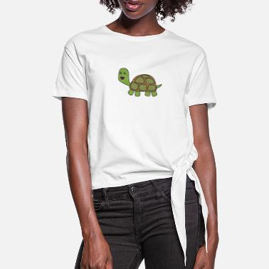 Tortuga Turtle Turtles Tortuga Reptile pets for kids - Women's Knotted T-Shirt