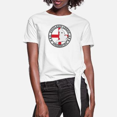 Leeds England Leeds LDS Mission Flag Cutout Map - Women's Knotted T-Shirt