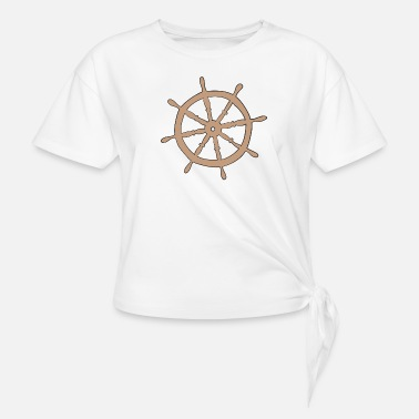 Shipping ship - Women's Knotted T-Shirt