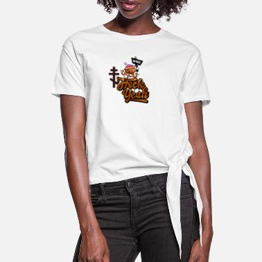 Creative Bizarre Hack Year Brawn - Women's Knotted T-Shirt