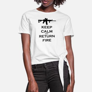 Fire return_fire - Women's Knotted T-Shirt
