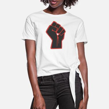 Fist fist - Women's Knotted T-Shirt