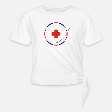 Unionjack Flag Unionjack Turntable - Women's Knotted T-Shirt