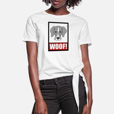 Woof WOOF! - Women's Knotted T-Shirt
