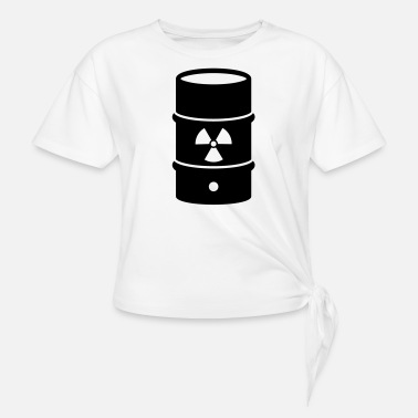Atomic Energy atomic waste biohazard nuclear energy - Women's Knotted T-Shirt
