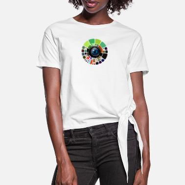 Lens Lens - Women's Knotted T-Shirt
