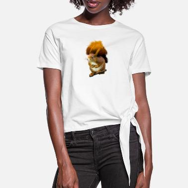 Squirrel squirrel - Women's Knotted T-Shirt