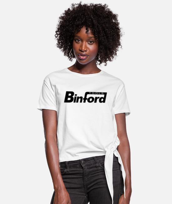 Binford Tools T-Shirts - Binford Tools (home improvement) (black) - Women's Knotted T-Shirt white