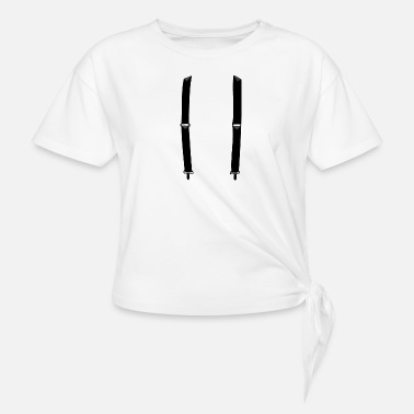 Suspenders suspender - Women's Knotted T-Shirt