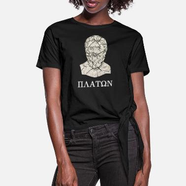 Greece Plato - Women's Knotted T-Shirt