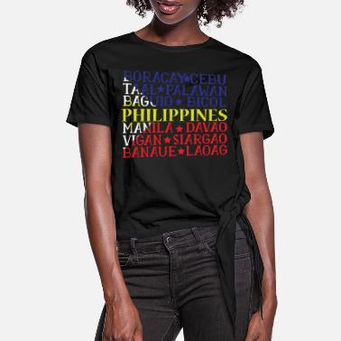 Asian Philippines filipina Ancestry gift idea - Women's Knotted T-Shirt