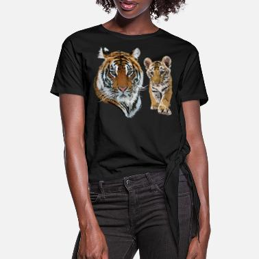 Tiger Tiger - Women's Knotted T-Shirt