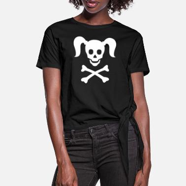 Girlie Girlie Pirate - Women's Knotted T-Shirt