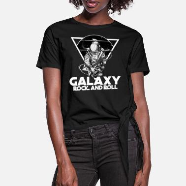 Rockabilly Galaxy Rock And Roll - Rock & Roll With the Stars - Women's Knotted T-Shirt