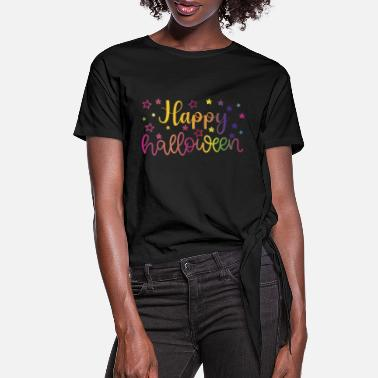 Europe Happy Halloween - Women's Knotted T-Shirt